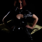 pvc fetish domme